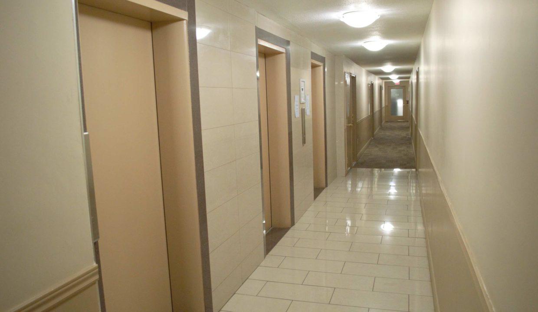99 & 670 - Carpeted Hallway with elevator landing